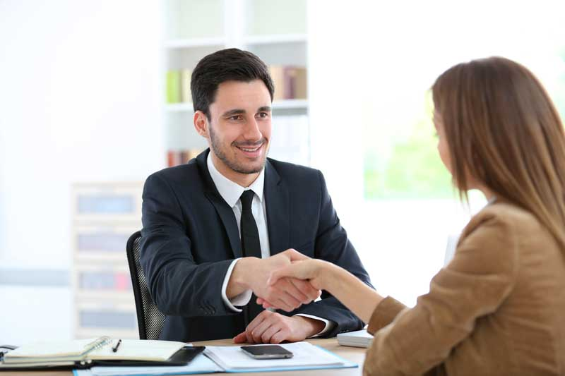 Accountant talking to business startup client